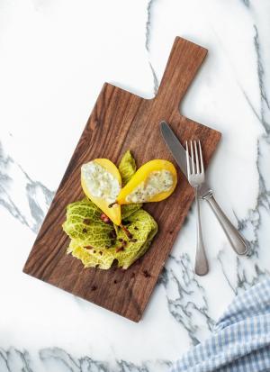 Weissweinbirne mit Roquefort, Wirz & Speck: »Birne, Wirz, Roquefort«