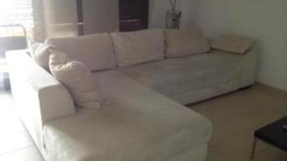 big, comfy couch & guest bed