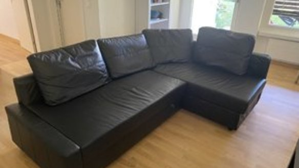 Corner sofa bed with bed base